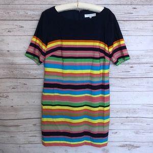 Trina Turk Rainbow Short Shift Dress Size 12